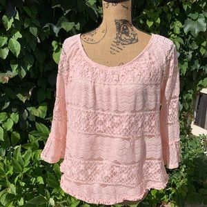 STYLE & CO Lace Blouse, L